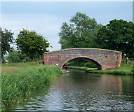 SK0220 : Bridge No 69, Trent and Mersey Canal, Staffordshire by Roger  Kidd