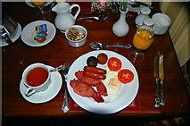 B8129 : Glashagh - Teach Jack's Hotel full Irish breakfast by Joseph Mischyshyn