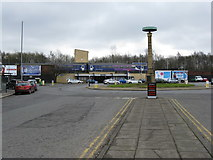 SD8912 : Rochdale station from Maclure Road by Dr Neil Clifton