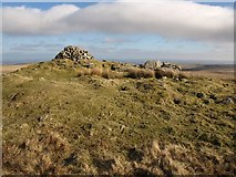 SX6767 : Cairn, Pupers Hill by Derek Harper