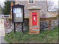 TM3258 : Marlesford Village Notice Board & CO Church Street Victorian Postbox by Adrian Cable