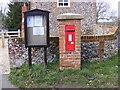 TM3258 : Marlesford Village Notice Board & CO Church Street Victorian Postbox by Geographer