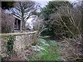 NZ1071 : Footpath by garden wall of Dalton House by Andrew Curtis