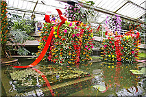 TQ1877 : Water feature, Princess of Wales Conservatory, Kew Gardens by Christine Matthews
