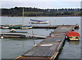 TM2748 : Landing stage on the Deben by Andrew Hill