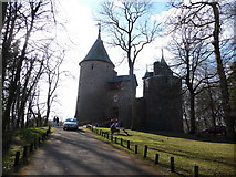 ST1382 : Castell Coch on St. David's Day 2009 by Jeremy Bolwell