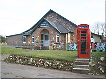 ST2112 : Telephone box and village hall, Churchinford by Roger Cornfoot