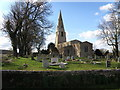 TL0977 : St Swithins Church at Old Weston by Michael Trolove