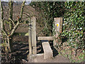 SK4841 : Stile by the Nottingham Canal by Kate Jewell