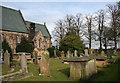 SJ6859 : Graveyard of St Peter's Church, near Bradfield Green by Espresso Addict