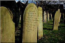 SK2572 : Gravestones, St Annes, Baslow by ron layters