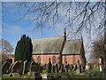 SJ3277 : Willaston Christ Church (C of E) by Sue Adair