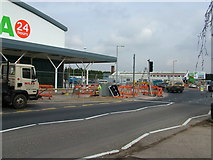 TL8364 : Eastbound entry to new roundabout by John Goldsmith