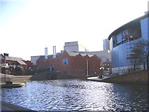 SP0586 : Symphony Hall , Malt House Pub & National Sealife Centre from Canal by Roy Hughes
