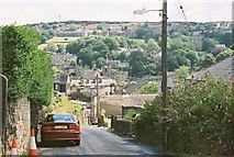 SE1407 : Looking Down Cemetery Road towards Holmfirth by Ron Galliers