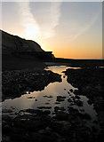 TQ4100 : Sunrise on Peacehaven Beach by Simon Carey