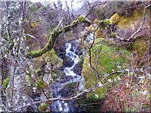 NH5533 : Small fall on Allt Coire Shalachaidh by sylvia duckworth