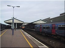 SX9193 : Exeter St David's Station from the south by Sarah Charlesworth