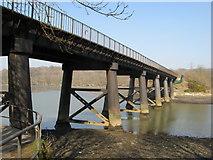 SX4460 : Tamerton Railway Bridge from the footpath below by Brian