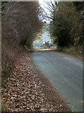 TM1154 : A140 switchback viewed from cyclepath by John Goldsmith