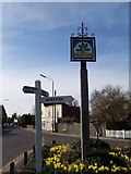 TQ6445 : Five Oak Green Village Sign by David Anstiss