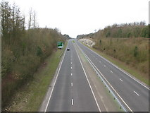 TR3051 : View N along the A256 towards Sandwich by Nick Smith