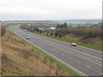 TR3051 : Looking S along the A256 Tilmanstone bypass by Nick Smith