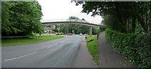 SS9612 : Tiverton : Heathcoat Way & Footbridge by Lewis Clarke