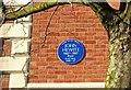 J3372 : Hewitt plaque, Belfast by Albert Bridge