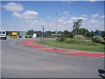 ST0207 : Cullompton : Station Road Roundabout by Lewis Clarke