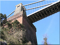 ST5673 : Pier of Clifton Suspension Bridge by Rick Crowley
