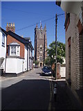 ST0207 : Cullompton : Church Street & St Andrews Church by Lewis Clarke