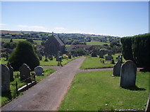 ST0107 : Cullompton : Cullompton Cemetery by Lewis Clarke