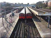 TQ5686 : Upminster station, London Underground platforms by Oxyman