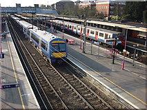 TQ5686 : Upminster station, c2c platforms by Oxyman