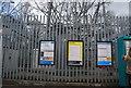 SD8006 : Metrolink signs, Whitefield Metrolink Station by N Chadwick