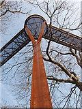 TQ1876 : Pillar of treetop walkway, Kew Gardens by David Hawgood