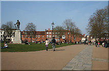SU4829 : Sunny afternoon on Winchester Cathedral green by Espresso Addict