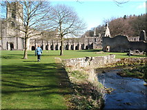 SE2768 : Fountains Abbey and River  Skell by Peter Barr