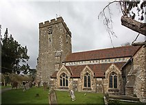 TQ4655 : St Martin's Church, Brasted, Kent by John Salmon