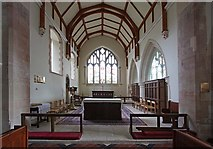 TQ4655 : St Martin's Church, Brasted, Kent - Chancel by John Salmon