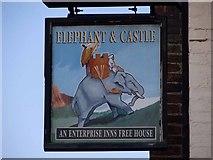 SJ6807 : Elephant & Castle pub sign, Dawley by Mike White