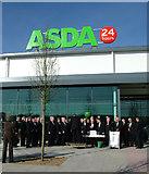 TL8364 : Choir at opening of Bury St Edmunds Asda by John Goldsmith