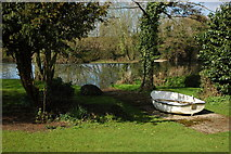 SP1452 : Boat beside the River Avon by Philip Halling
