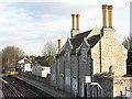 TQ7258 : Aylesford - former station buildings (platform side) by Stephen Craven