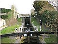 SP9114 : Aylesbury Arm - Lock No 2 showing the Lock Gates of Lock No 1 by Chris Reynolds