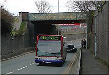 SO9199 : Bushbury bus at Hanson's Bridge, Wolverhampton by Roger  Kidd