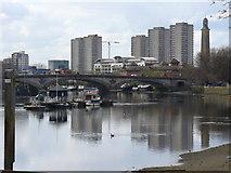 TQ1977 : River Thames Below Kew Bridge by Colin Smith