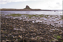 NU1341 : Beach at low tide, Holy Island, Northumberland by Christine Matthews