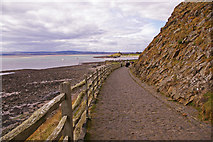 NU1341 : Steep path to Lindisfarne Castle by Christine Matthews